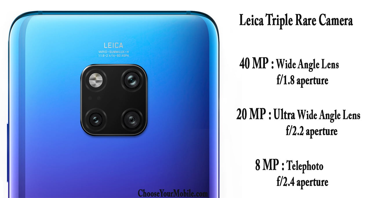 mate 20 pro camera specifications