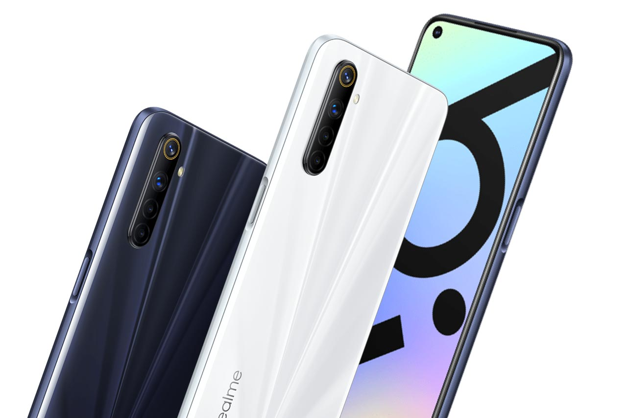 Realme 6i Images White and Black