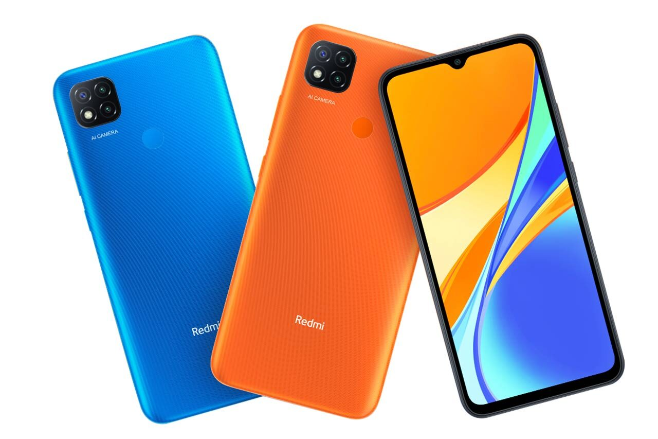Mi Redmi 9C Orange and Blue