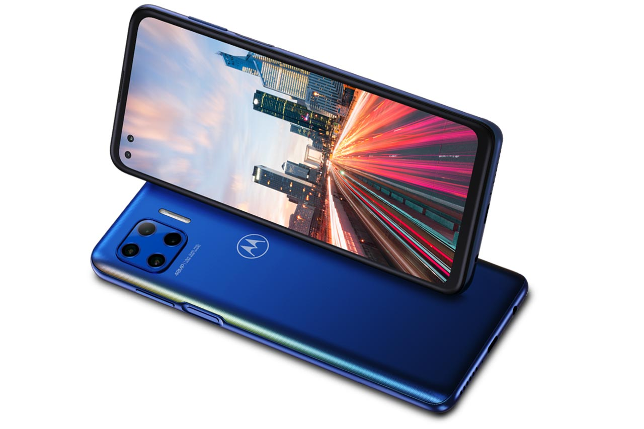 Motorola Moto G 5G Plus Blue Pictures
