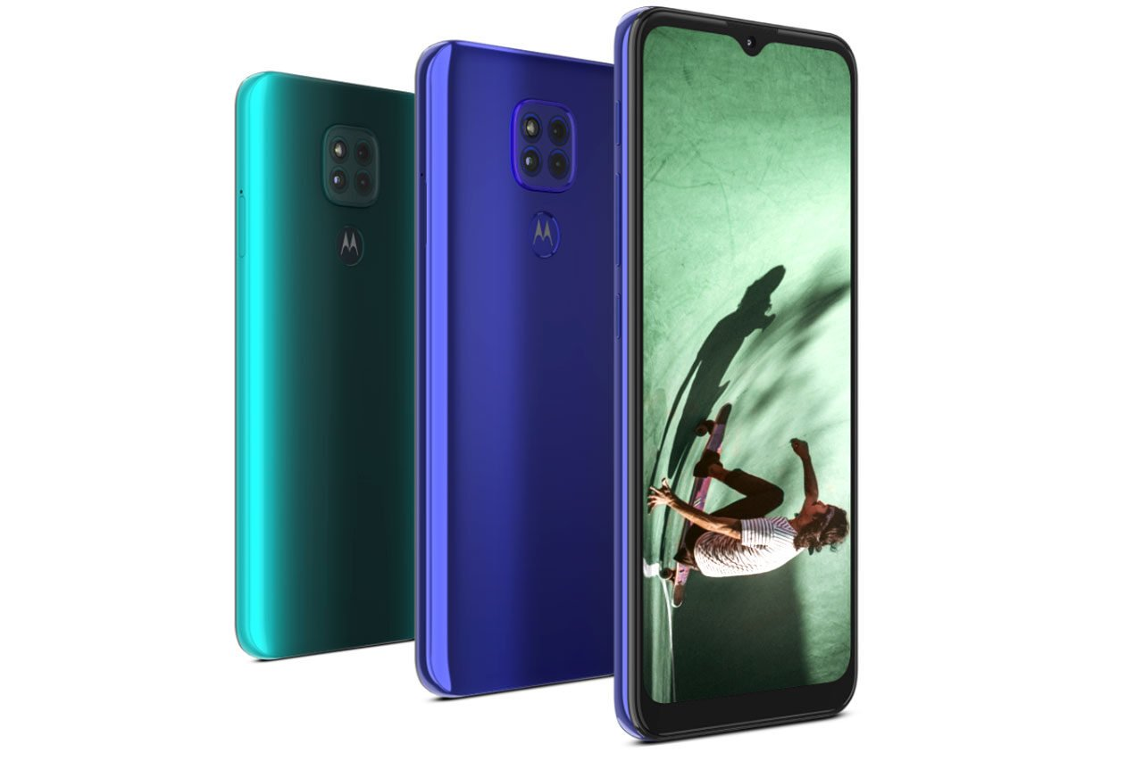 Motorola Moto G9 Green and Blue