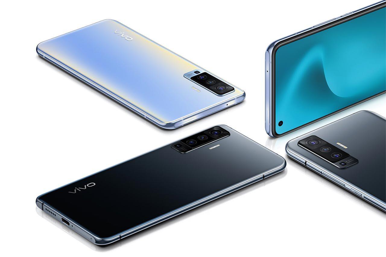 Vivo X50 Blue and Black