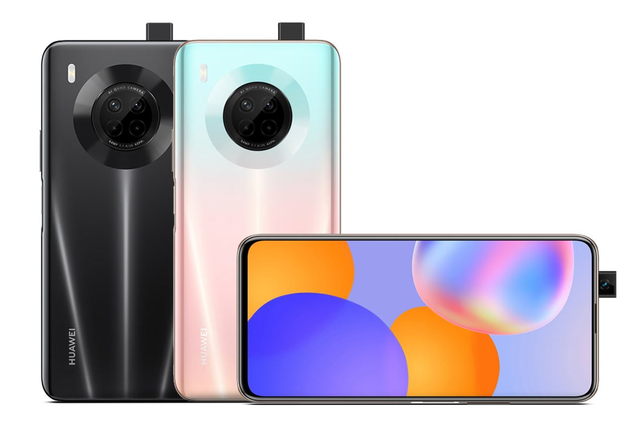 Huawei Y9a Pink and Black