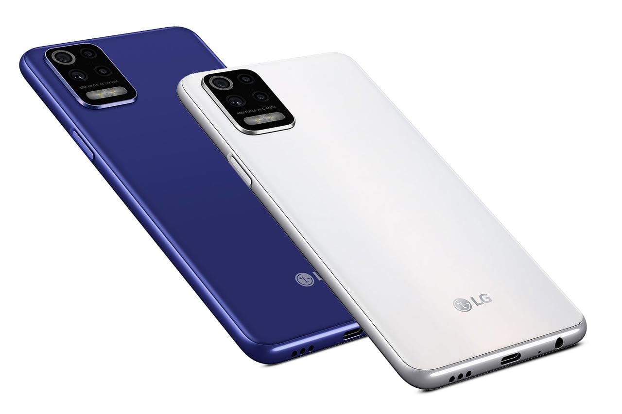 LG K52 White and Blue