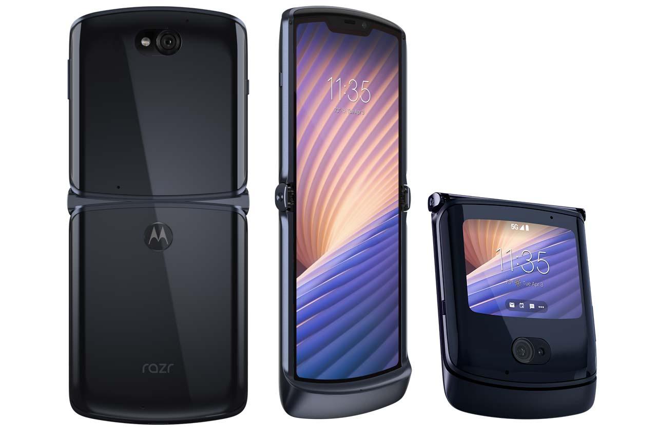 Motorola Razr 5G 2020 Mercury Silver Black