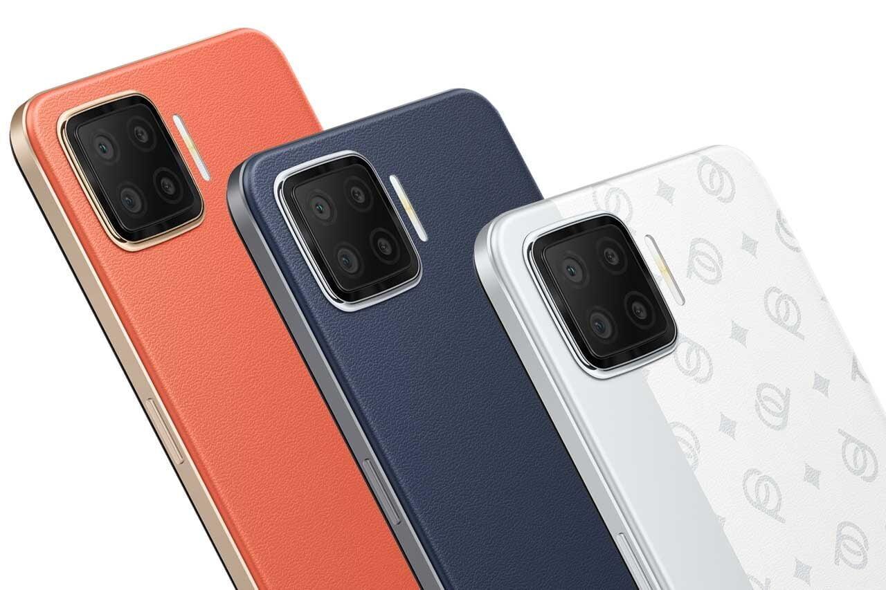 Oppo F17 Orange Blue White