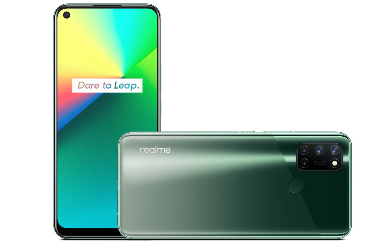 Realme 7i Aurora Green Color