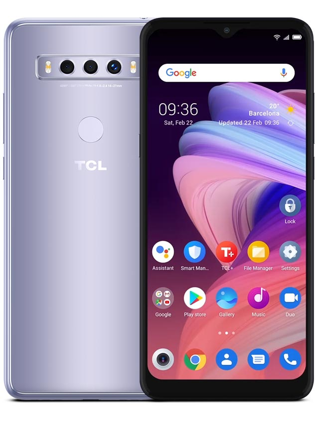 TCL 10 SE icy silver white