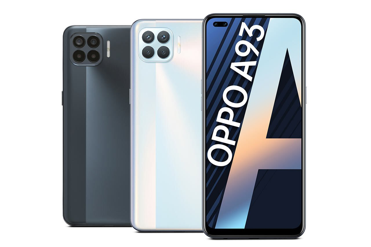 Oppo A93 White Black Colors