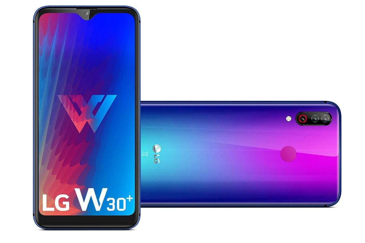 LG W30 Plus Blue