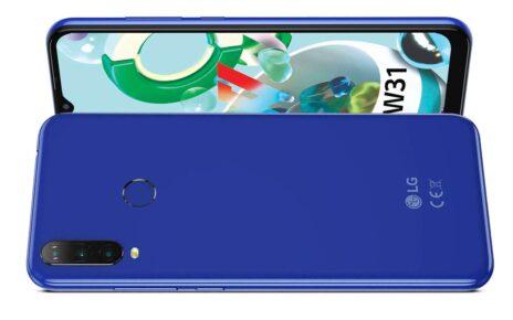 LG W31 Blue Colour