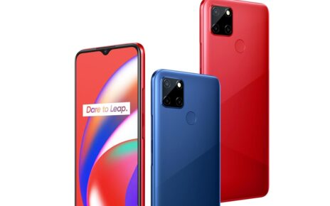 Realme C12 Red and Blue