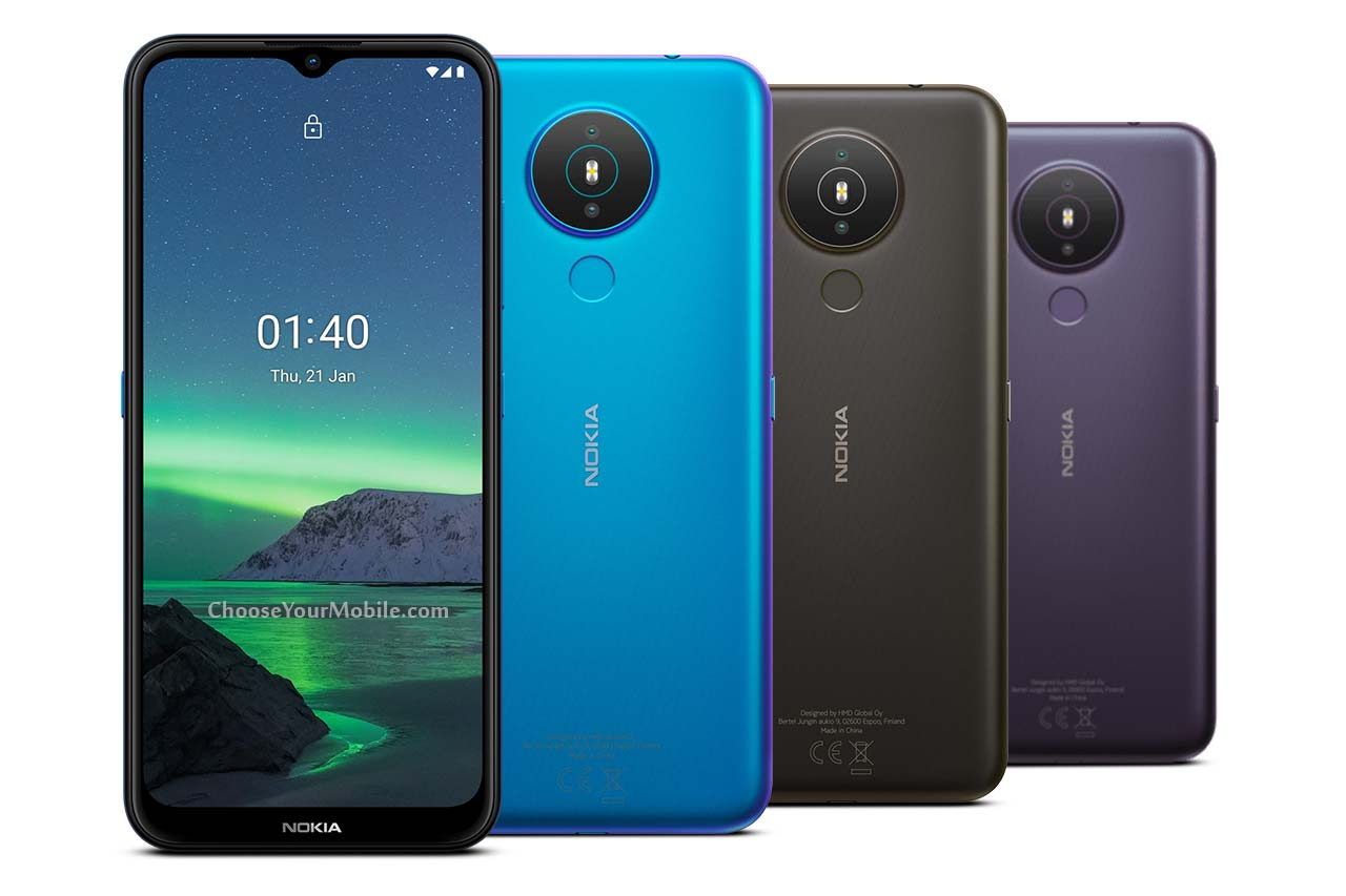 Nokia 1.4 Fjord Colors