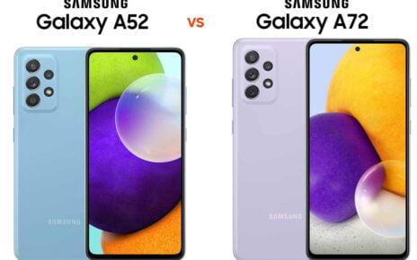 Samsung A52 vs A72