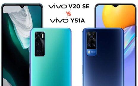 vivo V20 SE vs vivo Y51A
