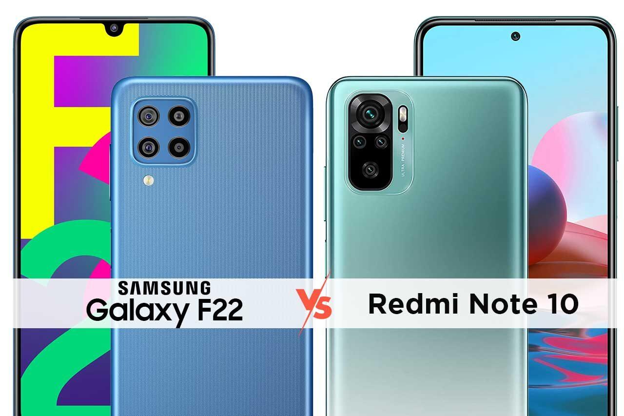 Samsung F22 vs Redmi Note 10