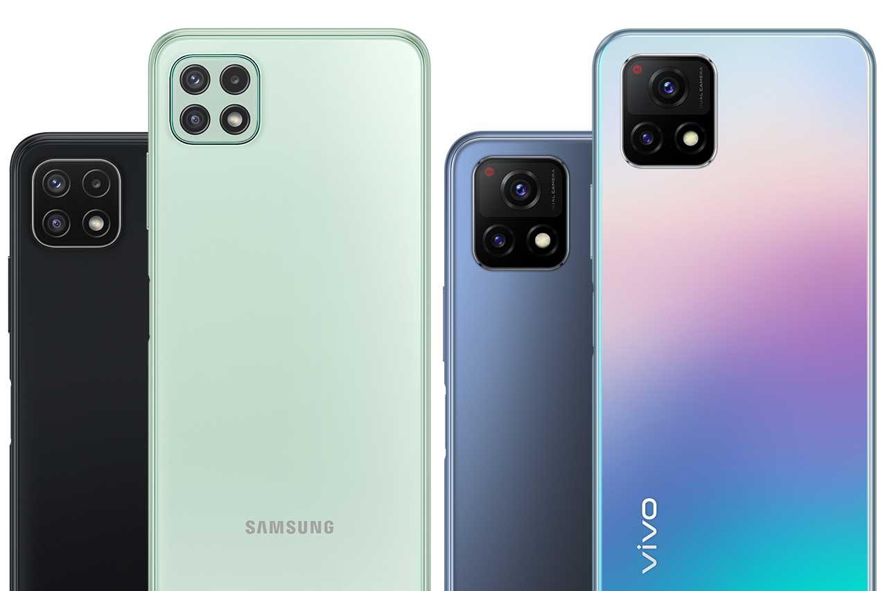 Samsung A22 5G vs Vivo Y72 5G