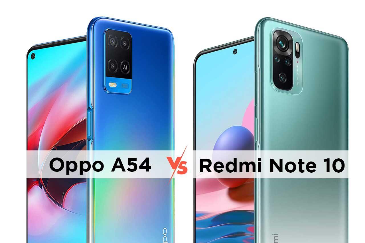 Oppo A54 vs Redmi Note 10