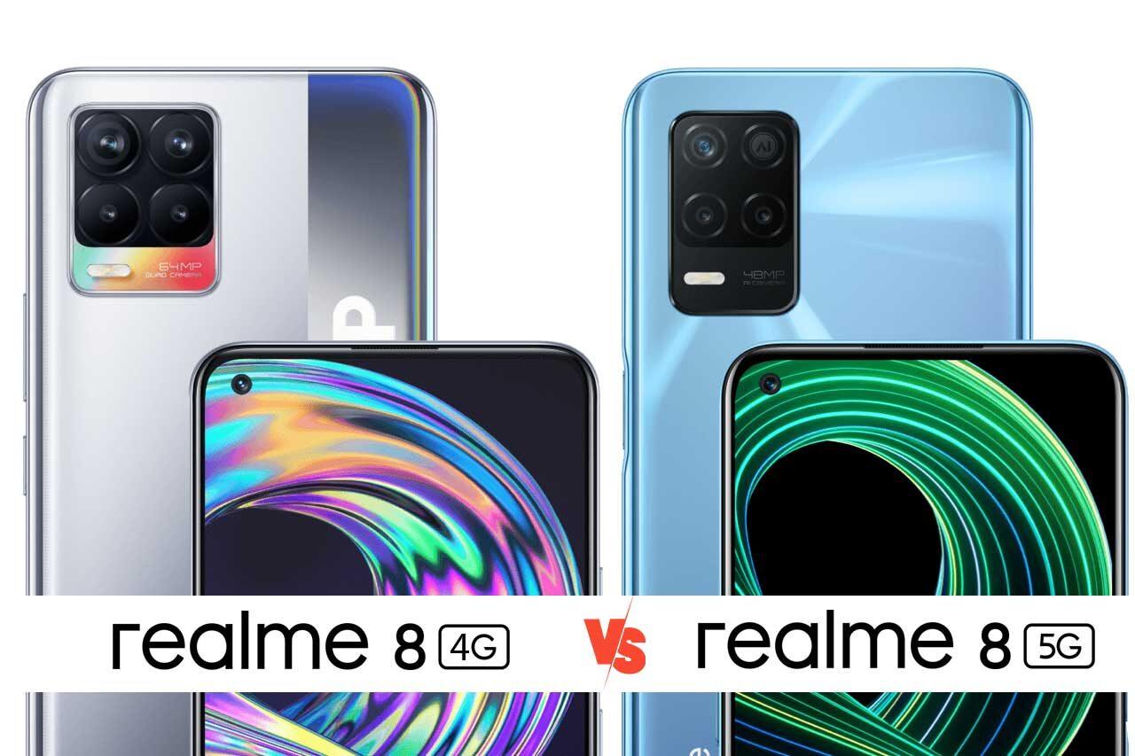 Realme 8 4G vs Realme 8 5G